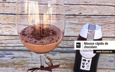 Mousse rápido de chocolate con Licaonat