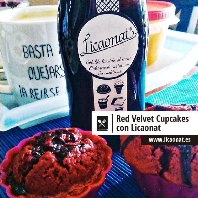 Cupcake Red Velvet con chocolate Licaonat
